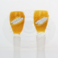 Wholesale Tooth Glasses - Heady glass bowl colorfull bowl big mouthbig teeth joint 14mm 18mm heady bong new design 14mm 18mm male bowls for glsaa smoking Accessories