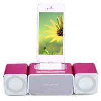 Wholesale Iphone Music Dock Station - Wholesale- 2016 Hot Sale Multifunctional Portable XKD12 Home Theater Music System Speaker Support FM With Dock Station For iPhone 5 5S
