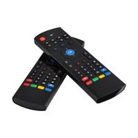 fly box tv оптовых-Air Fly Mouse MX3 2.4 ГГц беспроводная клавиатура пульт дистанционного управления Somatosensory ИК обучения 6 оси без микрофона для S905X S912 Android TV Box