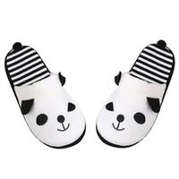 Wholesale Wholesale Shoes For Women Brands - Wholesale- Brand new Indoor slippers for Warm Womens Winter Cartoon Velvet slipper cute panda shoes pantoufles femmes #30 2016 Gift 1pair