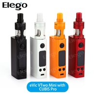 Kit Evic Al Por Mayor Baratos-Venta al por mayor Joyetech Evic VTwo Mini Kit con Cubis Pro Tank Kit de control de temperatura 2016 e cigarrillo Kit Original Joyetech Evic VTwo Mini
