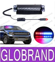 New Car Styling 8 LED Rouge / Dash Blue Car Police Flash stroboscopique Lumière d'urgence 3 Phares anti-brouillard Flashing GLO373