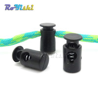 Wholesale Cord Stoppers Wholesale - 100pcs lot Mini Cord Lock Stopper Widely Used For Garment Accessories Bags Shoe Lace Black