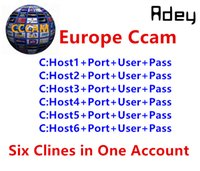 Wholesale Satellite Decoders - 1 Year CCcam Europe 6 Clines Server HD 12 Months account for Spain UK Germany French Italy Poland Satellite Decoder with AV Cable