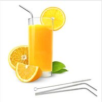 Wholesale cleaning accessories home - Wholesale Stainless Steel Metal Drinking Straw Reusable 304 Straws For Home Party Bar Accessories 1+ 1 Cleaner Brush Set