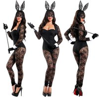 Wholesale Cute Girl Hot Sexy - Sexy Ladies Cute Hot Flirty Bunny Play girl Bunny Ears Costume Rabbit Club Cosplay party fancy dress 7038