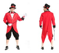 Wholesale Magician Costume Tuxedo - Halloween Party Magician Tuxedo Funny Circus Costumes Masquerade Cosplay Carnival