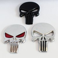 20pcs THE Punisher Car 3D Metal Skull Heads totem corpo do motor Emblem Sticker Trunk Logo Decoração para Harley