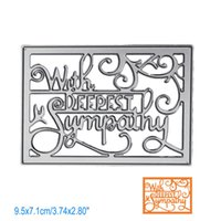 Wholesale craft dies - Letter With Deepest Sympathy DIY Metal Cutting Dies Stencil Scrapbook Card Album Paper Embossing Crafts