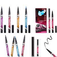 Wholesale Proof Liner - NEW YANQINA 36H Black Long Lasting Eye Liner Pencil Waterproof Eyeliner Smudge-Proof Cosmetic Beauty Makeup Liquid Eyeliner Pen 4 Colors