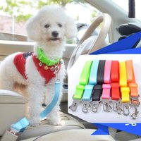 Wholesale Dog Cats Collars - 20pcs dog leashes leads Adjustable Car Vehicle Safety Seatbelt Seat Belt Harness Lead for Cat Dog Pet