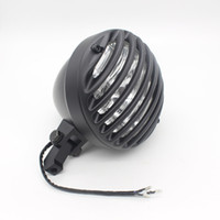 Wholesale Led Light Basin - 1X Basin-Type Motorcycle Chrome Fence Motorcycle Headlight LED DRL Driving Light Fog Light Source External Xenon