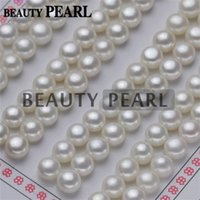 Wholesale White Grade AAA Natural Freshwater Pearl Cabochons Flat Back Half Drilled Loose Pearls mm mm White Pearls