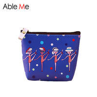 Wholesale Funny Squares - Wholesale- Cute Funny Pattern Women Coin Purse Waterproof PU Gift For Girl Mini Wallet Portable Money And Keys Holder Change Pocket
