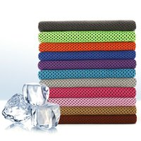 Wholesale Handkerchief Towel - 2017 handkerchiefs Top quality Cooling Towel Camping Hiking Gym Exercise Workout Towel Ice Fabric Soft Breathable Cool Sports Towel