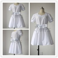 Wholesale Sword Art Online Yui - Wholesale-Sword Art Online Yui White Uniforms Cosplay Costume Lolita Casual Summer Dress Free Shipping