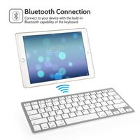 mejores tabletas adelgazantes al por mayor-2017 Nuevo mejor teclado inalámbrico ultra delgado 3.0 Bluetooth para IOS / Android / sistema de Windows Tablet PC Computer IPAD Smartphone