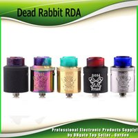 Wholesale Designed Atomizer - Original Hellvape Dead Rabbit RDA Atomizer Single Coil Dual Coils Rebuidable Dripper Tank with Squonk Pin Designed By Heathen 100% Authentic
