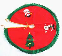 iyi örgü toptan satış-Kaliteli Noel Ağacı Elbise Süsler 3 Desenler dokunmamış Süslemeleri Şenlikli Parti Dekorasyon Malzemeleri Kırmızı 50 adet / grup Drop Shipping