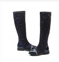 Wholesale black diamond ankle boots - Diamond Children Winter Shoes New Children's Snow Boots Kids Warm Sneakers Girls Snow Boots Girls Winter Waterproof Botas