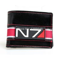 Wholesale Animated Wallets - Wholesale- mass effect 3 official N7 game peripheral limited printing wallet youth personality animated cartoon wallet DFT1022