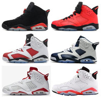 Wholesale Olympic Sneakers - High Quality Retro 6 Infrared Carmine Basketball Shoes Men 6s Toro Hare Oreo Olympic Chrome Sport Blue Sneakers With Shoes Box