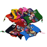 Wholesale Mobile Children - Hot Sell Yunnan folk manual zero wallet mobile phone bags Personality children bags inclined fish cloth bag Coin Purses 2323