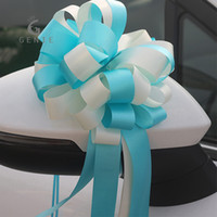 Wholesale french style weddings - 50Pcs French Style Pull Bows Ribbon Flower Home Christmas Decor Gift Wrap Flowers Mixed Color Wedding Car Decoration Pull Bow