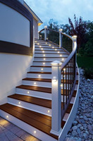 Wholesale LED Outdoor Wall Lamps Aluminum Housing Half Moon Cover Waterproof LED Light for Hallway Corridor Steps Stairs Lighting SAA CE Rhos