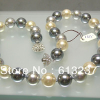chains no silver plated charms designer 12mm lovely multicolor imitation shell pearl round beads diy necklace