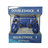 Wholesale White Ps4 - Wired Game Controller Purple Blue Black White Joystick Game Pad Double Shock universal USB Controller Console Gamecube for Video Games