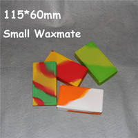 Wholesale Small Container Wholesalers - 5pcs Small Waxmate Containers Silicone Rubber Containers Silicon Storage Square Wax Jars Dabber Oil Holder Waxmate Rubber Wax Containers
