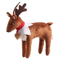 Wholesale Novelty Reindeer - Free DHL Plush ELF Dolls ELF Pet Reindeer Figure Christmas elves Soft Book of Christmas Novelty Toys Xmas Gift For Kids Holiday Gift