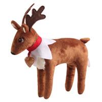 juguetes de los niños al por mayor-Muñecas ELF de felpa libre de DHL ELF Pet Reindeer Figura duendes de Navidad Libro suave de juguetes de la novedad de Navidad Regalo de Navidad para niños Regalo de vacaciones