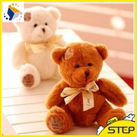 Wholesale Doll Patch - 10PCS LOT 20CM Free Shipping Stuffed Dolls Teddy Bears Patch Bears Three Colors High Quality Plush Toys NTP105E