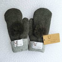 Wholesale Hand Warmers For Sale - Hot Sale Brand Women's Winter Mitten Kintted Gloves Thick Warm Cute Gloves Fur Wool Gloves 8 Colors for choosing Make By Hand High Quality