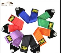 Wholesale Square Rope - HB OMP Tow rope High Strength Nylon OMP Racing Car Towing Strap Universal JDM Tow Rope Racing Car Towing Strap Ropes Eye Bumper