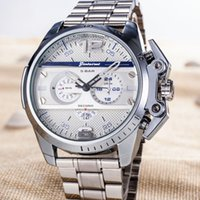 Wholesale Band Bang - new Sports Mens Watches Big Dial Display Top Brand Luxury watch Quartz Watch Steel Band 7333 Fashion Wristwatches For Men 7315 BIG BANG