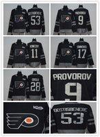 Wholesale Full News - 2017-2018 News Men Stitched adlads Philadelphia Flyers Hockey Jerseys Ice Throwback 28 Claude Giroux 9 Ivan Provorov Jersey