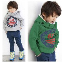 Wholesale Kids Thick Sweater - Baby Boys Kids' Thick Coat Tops Hoodies Jacket Sweater Outwear Pullover 2-7Y