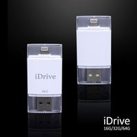 Wholesale Flash Memory Iphone - Wholesale-SHOWKOO 32GB iDrive Reader iFlash External Storage Memory USB Flash for iPhone 6 6plus 6S 6s plus for Mac iFlash Drive Backup