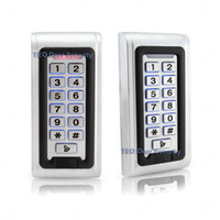 Wholesale Standalone Rfid - IP68 Waterproof Outdoor LED Keypad Metal Standalone Access Control Wiegand 26 Fast Operating Speed RF Door Access 12V and 24V Door Access