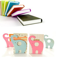 45set 2pcs Set Modern Elephant Design Bookend Anti Skid Shelf Book Case Holder Home Office Store Stationery Wholesale Home Decoration Za0594 On Sale