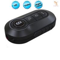 Wholesale Remote Control Car Key Spy - Mini1080P HD Spy Night Vision Car Key Hidden Camera DVR Video Mini Camera Remote Control