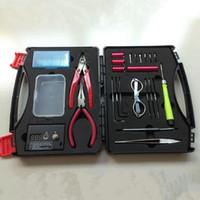 kit de caja de bricolaje al por mayor-Diseño único DIY E cig herramienta Bolsas Terminador de la Bobina Terminator Tool DIY Kit Electronic Cigarettes Case Bags con envío gratis