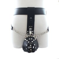 Wholesale Leather Body Harnesses For Men - Male Chastity Belt With Locks,Leather Body Harness Underwear,Sex Toys For Men,Sex Products