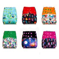 Wholesale Inserts For Aio Diapers - DHL Freeship Reusable Baby AIO Cloth Diapers Cover With Microfiber Inserts for Baby Boys Girls Washable Cloth Diaper Nappy Wholesale