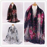 Wholesale bali yarn - Big Size Scarf 185*90cm 2016 New Fashion Hot sale Accessories Flower Print Scarf Bali yarn Shawl Wrap for Women
