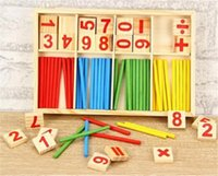 Wholesale Math Education - Montessori Math Number Enlightenment Toy Wood Board Preschool Toy For Kid Early Education Box package Free Shipping