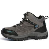 Wholesale Warm Waterproof Winter Sneakers - Men Sport Shoes Winter Warm Ankle Boots For Women Fashion Rubber Tactical Waterproof Hiking Shoes Sneaker Climbing Outdoor Trekking Botas